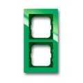 Рамка 2-постовая, axcent, зелёная