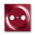 Накладка для антенной розетки TV+FM, impuls, бордо