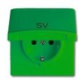 Розетка 2Р+E 10/16А 250В с крышкой (IP44) Allwetter 44 зеленый