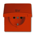 Розетка 2Р+E 10/16А 250В с крышкой (IP44) Allwetter 44 оранжевый